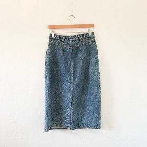 Vintage Jeans - VTG 80's Jordache Studio Denim Midi Skirt - Sz M